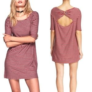 We The Free People Striped Knit Cutout Dress